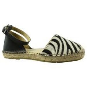 NIB Miz Mooz Adonis zebra leather/fur EU 37 US 6.5